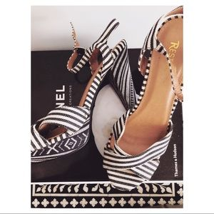 Restricted shoes size 10. Black and white heel